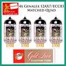 New 4x Genalex Gold Lion 12AX7 / ECC83 | Matched Quad / Quartet / Four Tubes