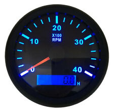 1pc 0-4000RPM Tachometer Gauges 85mm Waterproof Lcd Rev Counters with Hourmeters