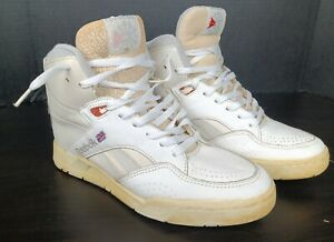 VINTAGE REEBOK HI HIGH TOPS TOP BASKETBALL SHOES WHITE MENS SIZE 10 SNEAKERS