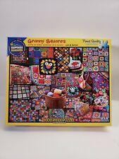 "White Mountain Puzzle GRANNY SQUARES  #1055 1000 Pieces 24""x30""  Complete"
