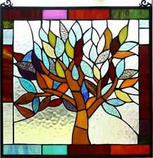 Tiffany Stained Glass Tree Of Life Window Panel