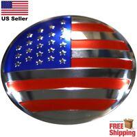 "DOME SHAPE 3D Metal US American Flag Sticker Decal Emblem 2.20"""