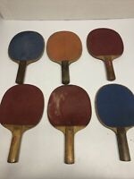 Vintage 60s/70s Sportscraft Ping Pong gaming Paddles (See Condition!)