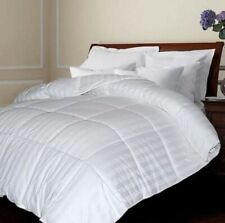 Blue Ridge Full/Queen 75% White Down Comforter Damask Stripe White
