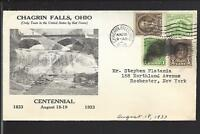 CHAGRIN FALLS, OHIO ILLUST ADVT. CENTENNIAL 1933,COVER TO ROCHESTER N.Y.
