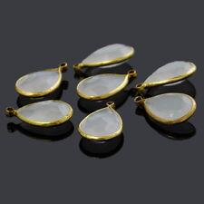 5x Acryl Anhänger charm Perlen beads für Schmuck NEU Tränen - Form 22x14mm
