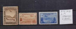 ! New Foundland 1931-1943. Air Mail   Stamp. YT#A6,A13,A19. €30.75!