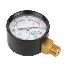 "2"" Vacuum Pressure Gauge Blk Steel 1/4"" NPT Lower Mount -30HG/0PSI New gd"