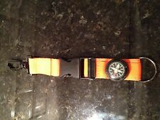 Sport Compass Key Chain Ring Orange And Black
