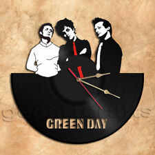 Green Day Band Wall Clock Vinyl Record Clock Handmade