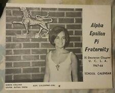1967-68 Alpha Epsilon Pi U.C.L.A School Calendar Calendar Girls