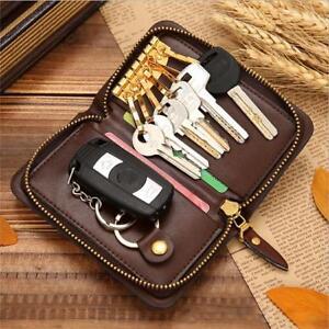 PU Leather Key Wallet Holder Pouch Keychain Bag Organizer Fashionable Men SPM