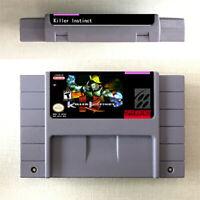 New Killer Instinct Game 16bit Cartridge Console Nintendo SNES US Version Englis