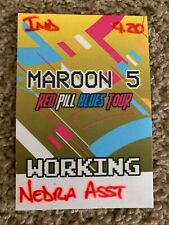 Maroon 5 Red Pill Blues Tour Backstage Pass 2018