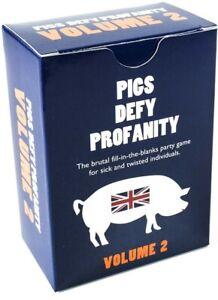 Pigs Defy Profanity : Volume 2 - The Brutal UK Card Game Expansion Pack Play uk