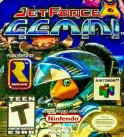 JET FORCE GEMINI N64 Nintendo 64 1999 Rare Action Adv Shoot Game Tested w Manual