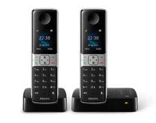 Philips D6352B DUO Festnetz-Telefon schnurlose DECT mit Anrufbeantworter schwarz
