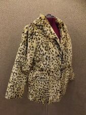 NEW Plush Leopard Animal Print Faux Fur Liteweight Jacket Womens XL Short Length