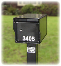 High Security Locking Mail box AND Matching Steel Post 110 pounds Sm. Standard