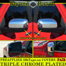 2009-2018 DODGE RAM 1500, 10-18 RAM 2500,3500 Chrome Mirror Covers No Sgl Black