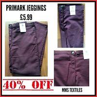 Primark Ladies Burgundy High Waist Skinny Jeggings