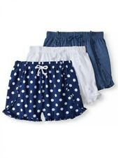 Freestyle Revolution Girls' Solid and Print Ruffle Short 3-Pack Set SIZE 6 --F1-