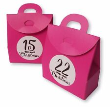 24x PINK ADVENT CALENDAR COUNTDOWN TO CHRISTMAS FILL YOURSELF ACTIVITY BOX BAG