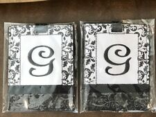 "Ganz Black/White Initial Luggage Bag Tag 2 Tags with Letter ""G"" Brand New"