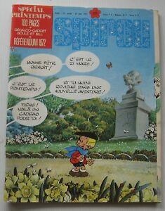 JOURNAL SPIROU N°1771 Spécial Printemps+Décalco gadget Boule&Bill 1972 Bon Etat