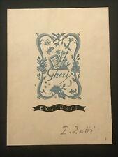 Zetti. ex libris silografia di Italo Zetti per GHERI