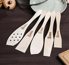 Set of wooden cooking spatulas, 5 pcs, individually wrapped