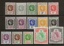 LEEWARD ISLANDS 1954 TO $4.80 SG126/40 MNH