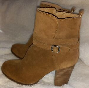 Lucky Brand Latonya Suede Leather Ankle Boots Zip Women's 8 M