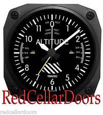 """New TRINTEC ALTIMETER Alarm Clock Aviator Altitude Portable for Travel DM60 3.5"""""""