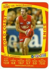 2011 AFL TEAMCOACH GOLD COAST SUNS JARED BRENNAN 138 COMMON CARD free post