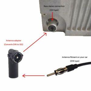 Car Radio Aerial Antenna Adaptor Convertor ISO DIN