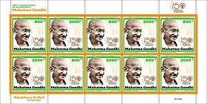 MALI 2020 SHEETLET 10V (5 SETS) SQUARE TYPE - MAHATMA GANDHI - JOINT ISSUE - MNH