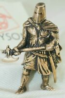 Brass Knight with Ax Collectible Hadmade  Medieval  Warrior Sculpture