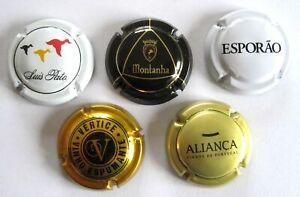 "5 SPARKLING WINE CAPS - PORTUGAL - ""CHAMPAGNE"" - ESPUMANTE - Montanha and more"
