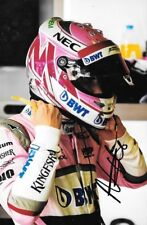 Nikita mazepin firmado, Force India Test Driver retrato, test de Barcelona 2018