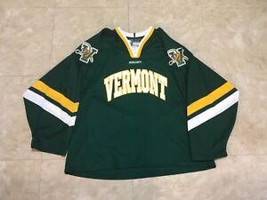 "A Bauer University of Vermont ""UVM"" Hockey Jersey, Size Large"