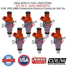 Set of 6 OEM BOSCH Fuel Injectors for 1992-2000 Plymouth/Dodge/Chrysler 3.0L V6
