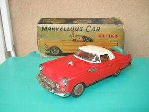 nomura ford thunderbird tin toy car battery japan box