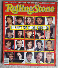 the Day The World Rocked  Rolling Stone Magazine #454 August 1985 Live Aid