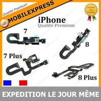 NAPPE FLEX CAMERA AVANT FACETIME PROXIMITE + MICRO  IPHONE 7 / 8 / 7+ / 8+ PLUS