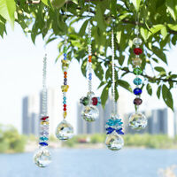 Set 6 Rainbow Crystal Suncatcher Prism Pendant for Office Home Hanging Ornaments