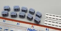 Set of (10) 1/24 3D Printed Resin Optima Style Batteries with decals