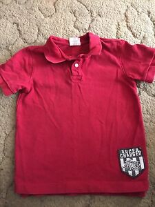 Crazy 8 Boys Short Sleeve Polo Shirt Size 5-6 Red