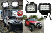 PAIR 18W 1260LM CREE Spot LED Work Light Bar Offroad Jeep New Free Shipping USA