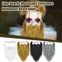 Halloween Costumes Self Adhesive Fake Beard Moustache Kit Facial Hair Cosplay
